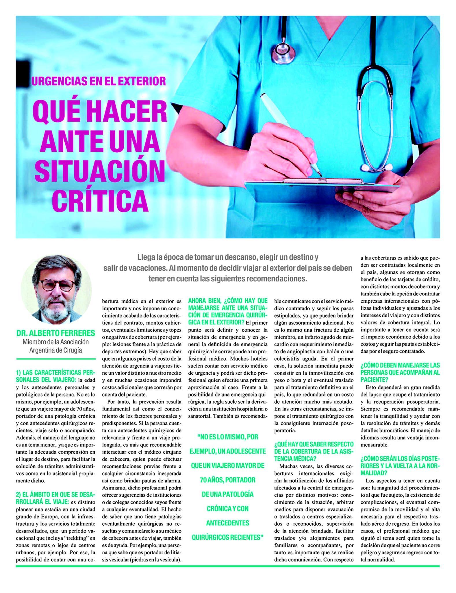 Ámbito Financiero Asociación Argentina de Cirugia