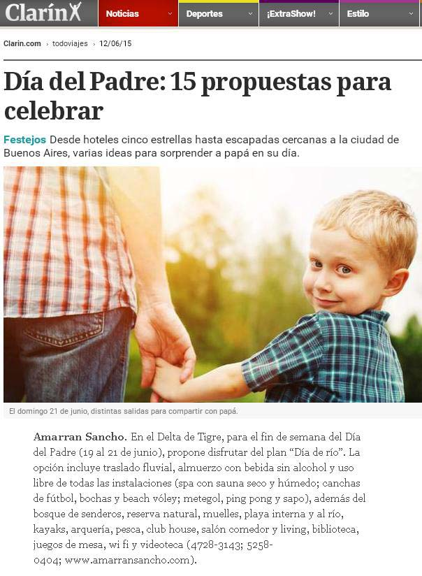 Clarín web Amarran Sancho