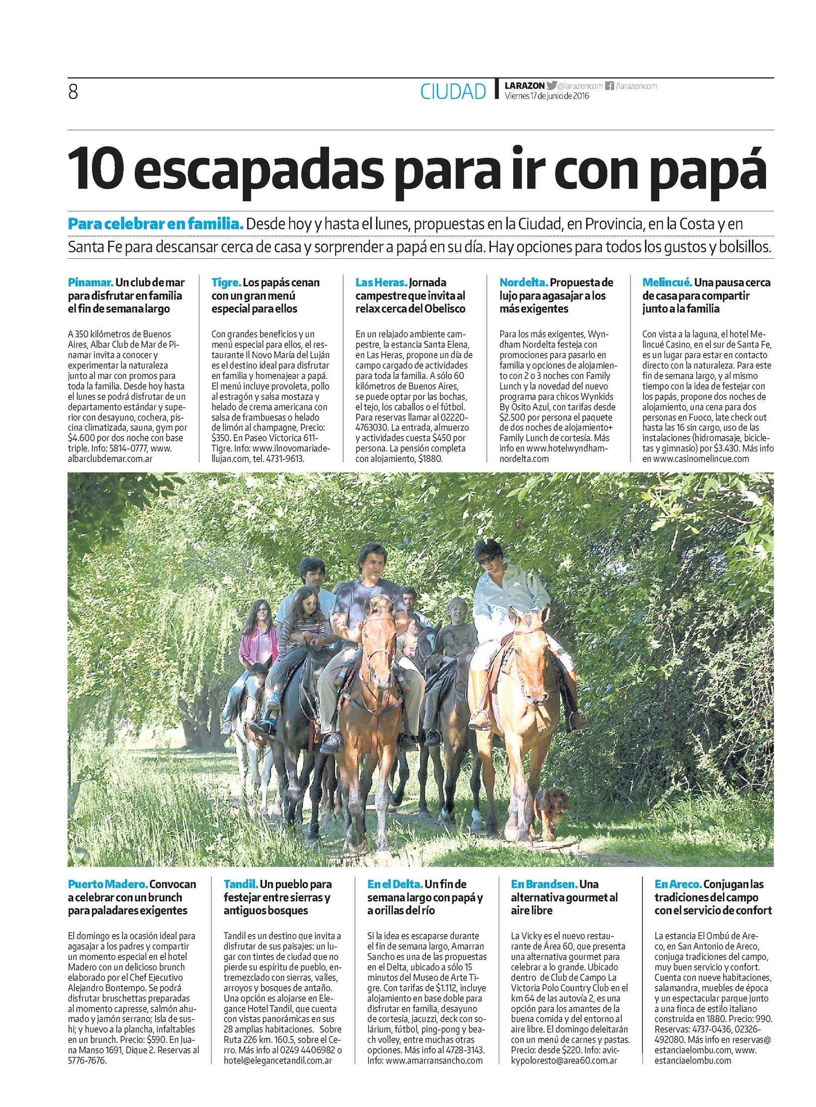 La Razón Il Novo María del Luján