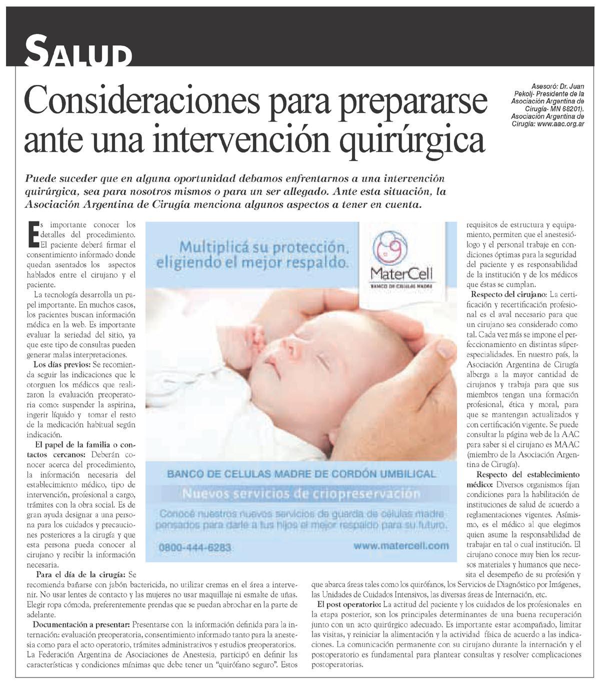 Revista Caras Asociación Argentina de Cirugía